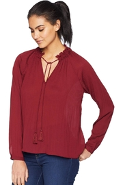 Adelyn Rae Woven Pleated Blouse - Front full body