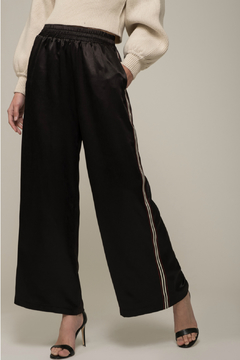 Moon River Woven Racing Stripe Pant - Product List Image