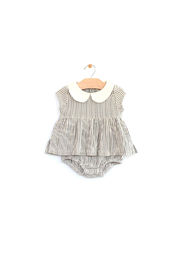 City Mouse Woven Round Collar Skirted Bodysuit - Product Mini Image