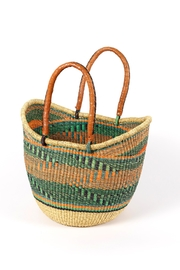 African Market Baskets Woven Shopping Tote - Product Mini Image