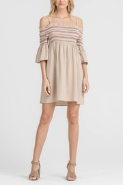 Lush Woven Smocking Dress - Front cropped