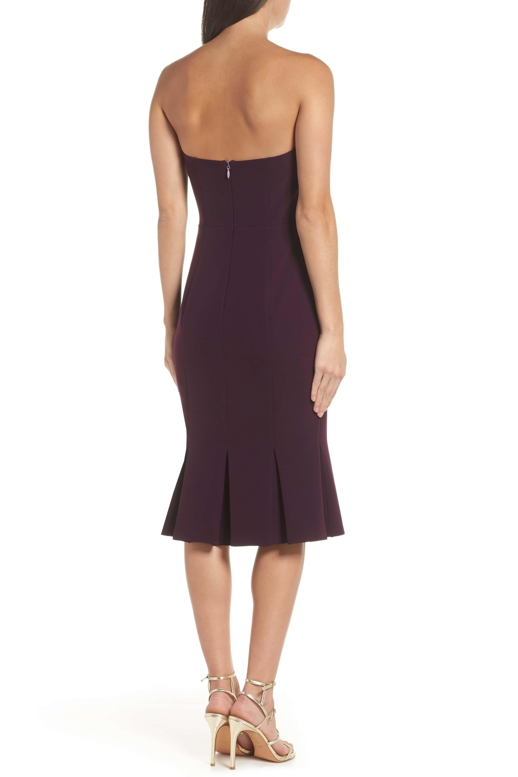 Adelyn Rae Alexis Woven Strapless Dress - Front Full Image