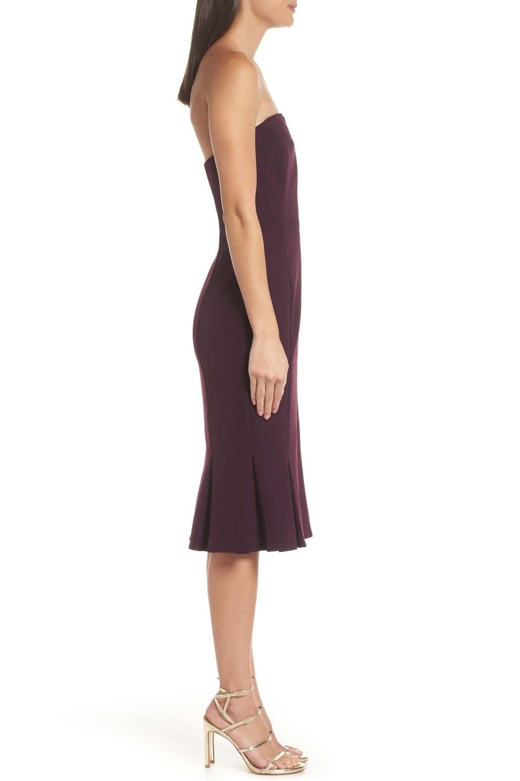 Adelyn Rae Alexis Woven Strapless Dress - Side Cropped Image