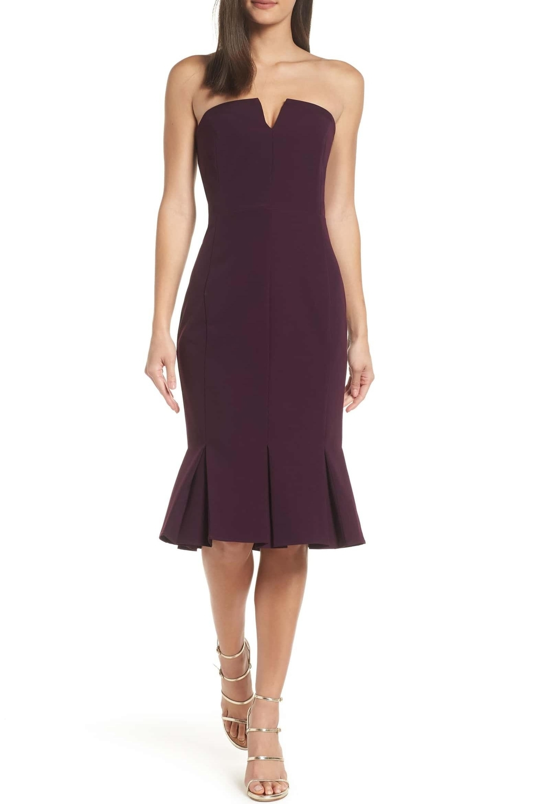 Adelyn Rae Alexis Woven Strapless Dress - Main Image