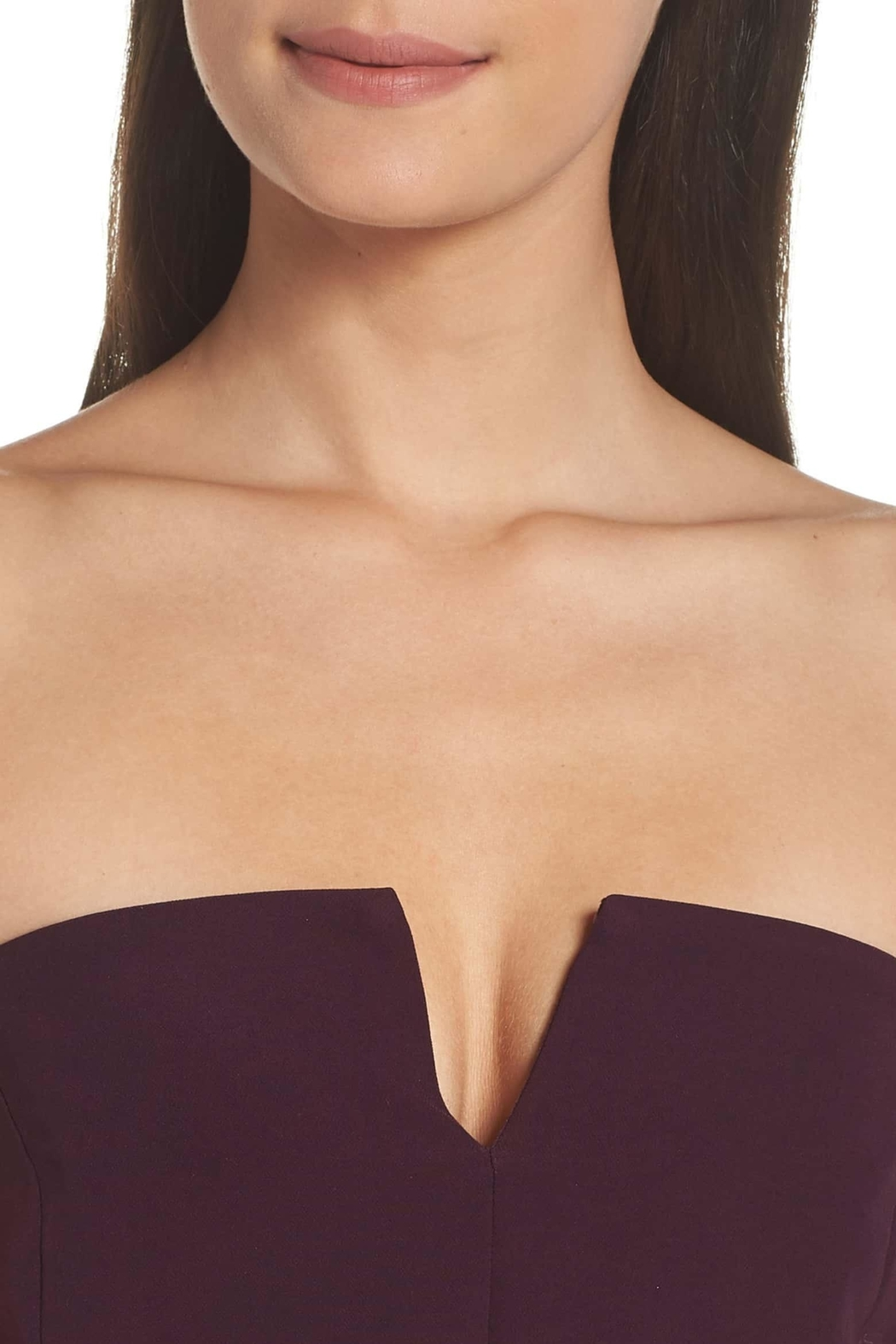 Adelyn Rae Alexis Woven Strapless Dress - Back Cropped Image