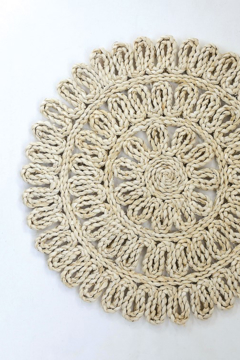 Creative Co-Op Woven Straw Placemat 15in Round In Natural - Product List Image