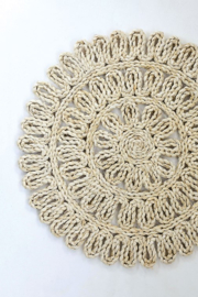 Creative Co-Op Woven Straw Placemat 15in Round In Natural - Front cropped