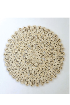 Creative Co-Op Woven Straw Placemat 15in Round In Natural - Alternate List Image