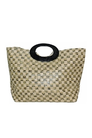 Romy M.  Woven Straw Tote - Product Mini Image