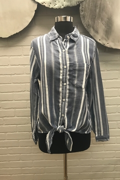 Dylan by True Grit Woven Stripe Tie Top - Product List Image