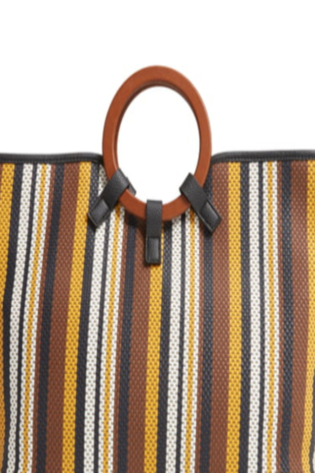 Sondra Roberts Woven Stripe Tote - Front Full Image
