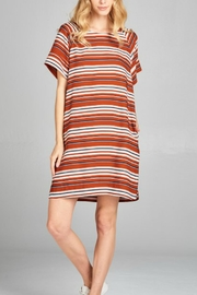 Ellison Woven Striped Dress - Product Mini Image