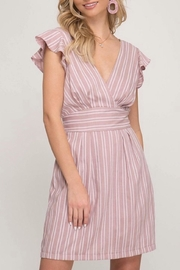 She + Sky Woven Surplice Dress - Product Mini Image