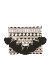 Mud Pie Woven Tassel Clutch - Product Mini Image