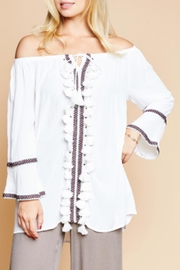 Sadie & Sage Woven Tassel Top - Product Mini Image