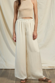 By Together Woven Washed Crepe Pants - Product Mini Image