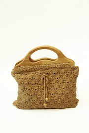 Ellison WOVEN WOODEN HANDLE BAG - Product Mini Image