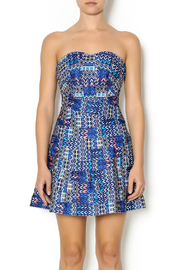 Wow Couture Blue Multi Sweetheart Dress - Product Mini Image