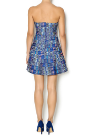 Wow Couture Blue Multi Sweetheart Dress - Side cropped