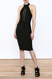 Wow Couture Braid Front Bodycon Halter Dress - Product Mini Image