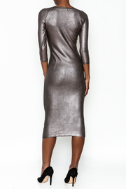 Wow Couture Gilded Bodycon Dress - Back cropped