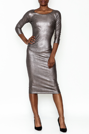 Wow Couture Gilded Bodycon Dress - Front cropped