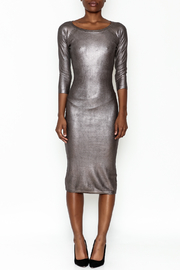 Wow Couture Gilded Bodycon Dress - Front full body
