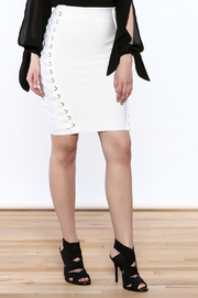 Wow Couture White Lace-Up Skirt - Product Mini Image
