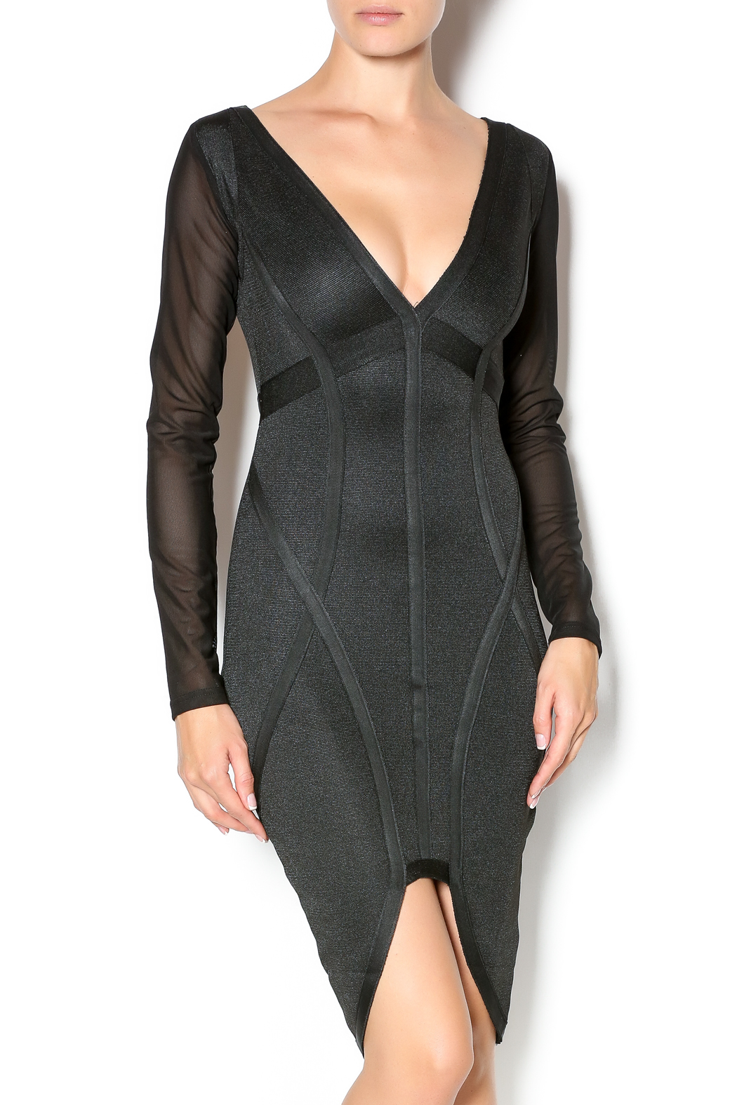 Wow Couture Long Sleeve Bandage Dress from New York by Dor L Dor ... 83768c3c7e1e