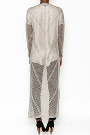 Wow Couture Metallic Threads Cardigan - Back cropped