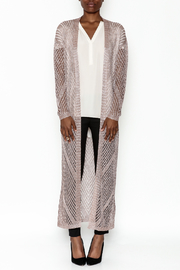 Wow Couture Metallic Threads Cardigan - Front full body