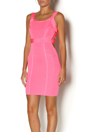 Wow Couture Pink Cut Out Dress - Product Mini Image