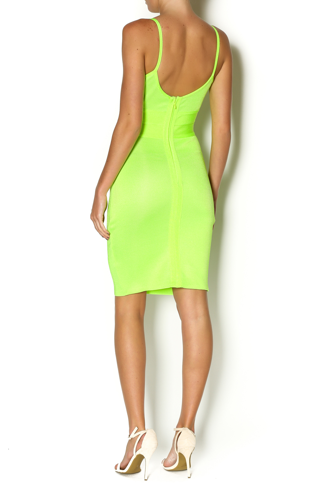 Wow Couture Spaghetti Strap Dress - Side Cropped Image