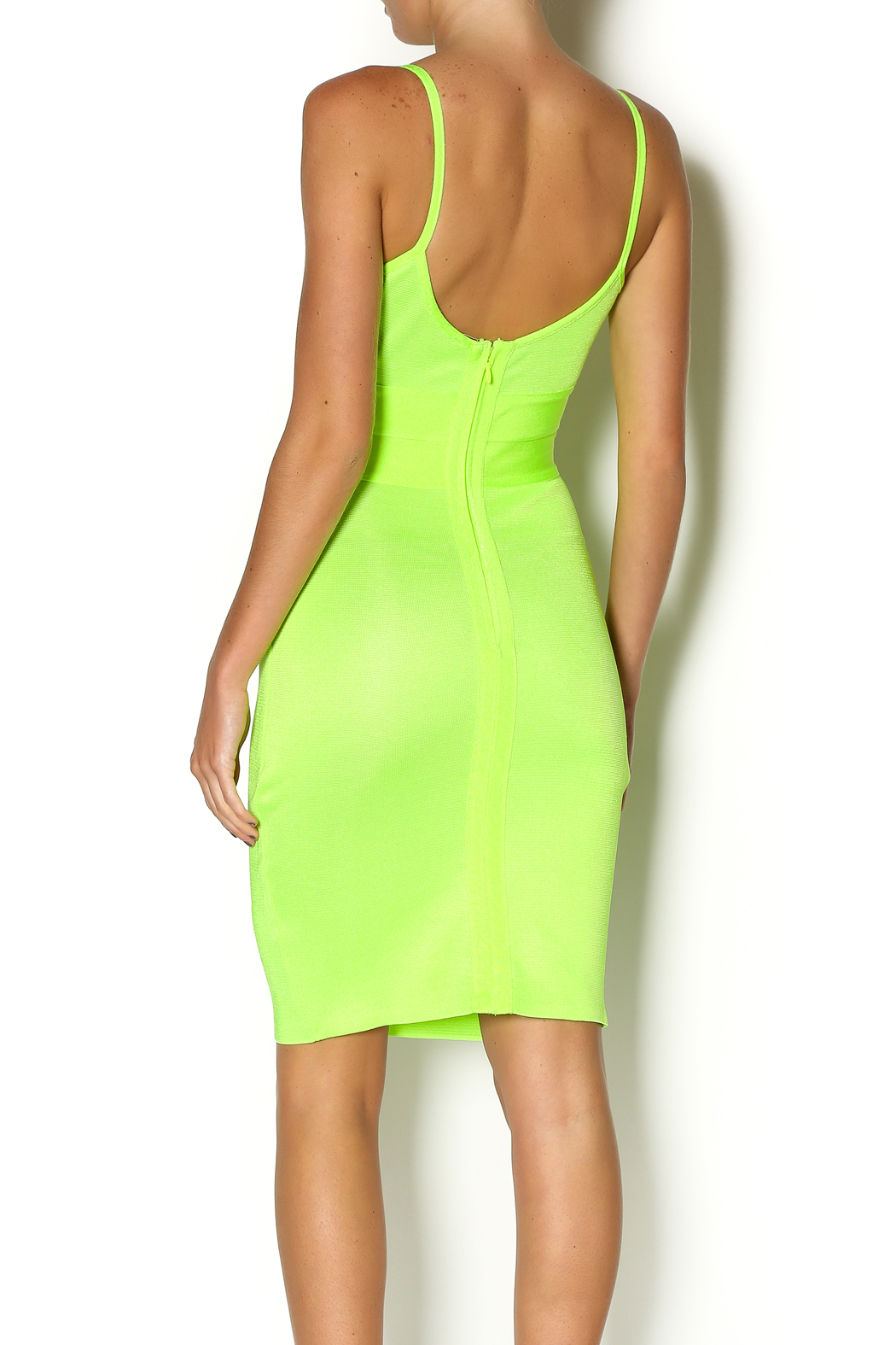 Wow Couture Spaghetti Strap Dress - Back Cropped Image