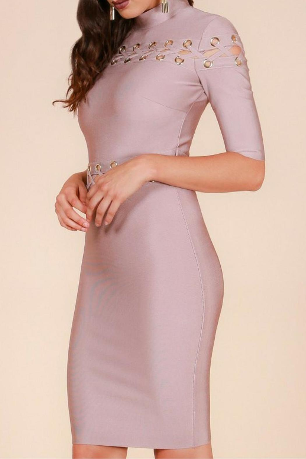 Wow Couture Bandage Dress - Side Cropped Image