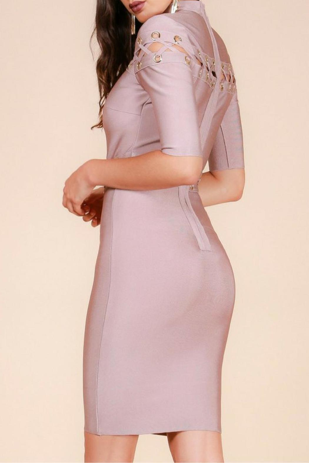 Wow Couture Bandage Dress - Back Cropped Image