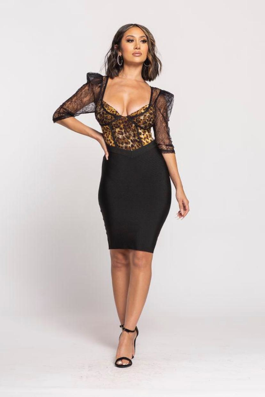 Wow Couture Bandage Twofer Dress - Main Image