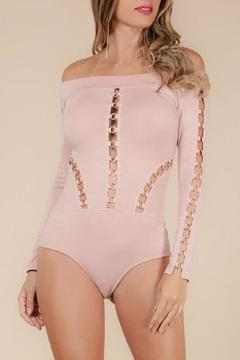 Wow Couture Blush Metal Bodysuit - Product List Image