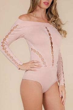 Wow Couture Blush Metal Bodysuit - Alternate List Image