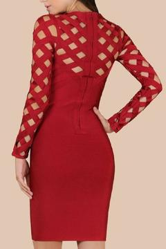 Wow Couture Burgundy Caged Dress - Alternate List Image