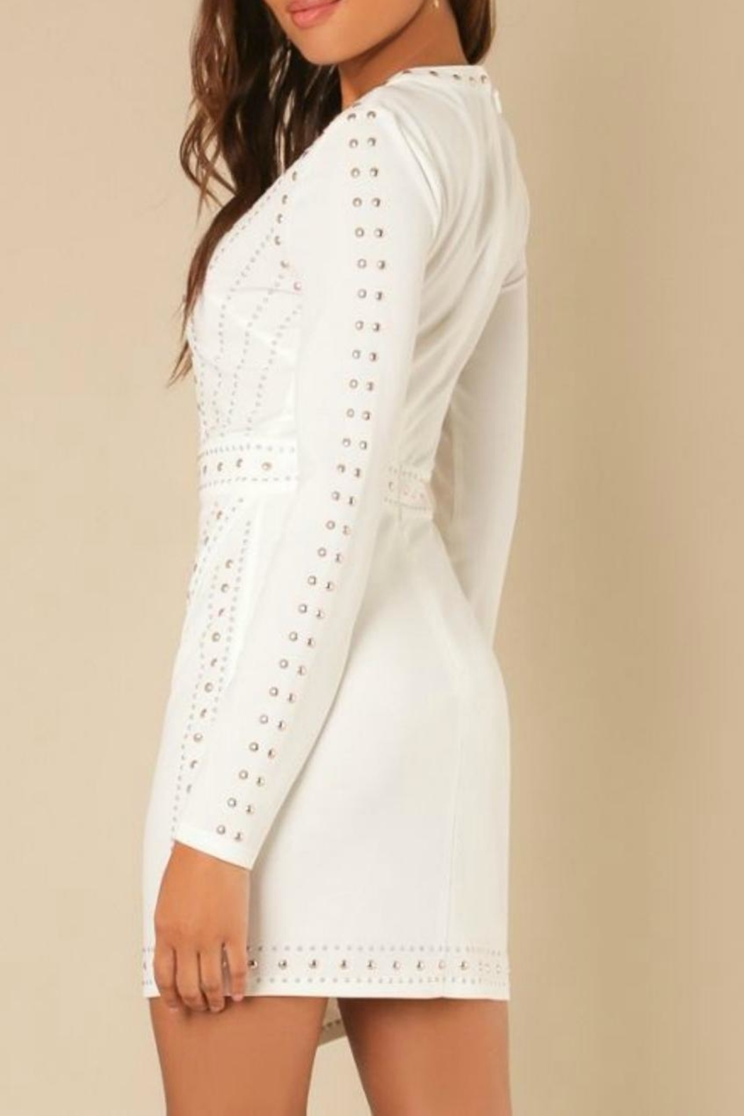 Wow Couture Longsleeve Bodycon Dress - Front Full Image