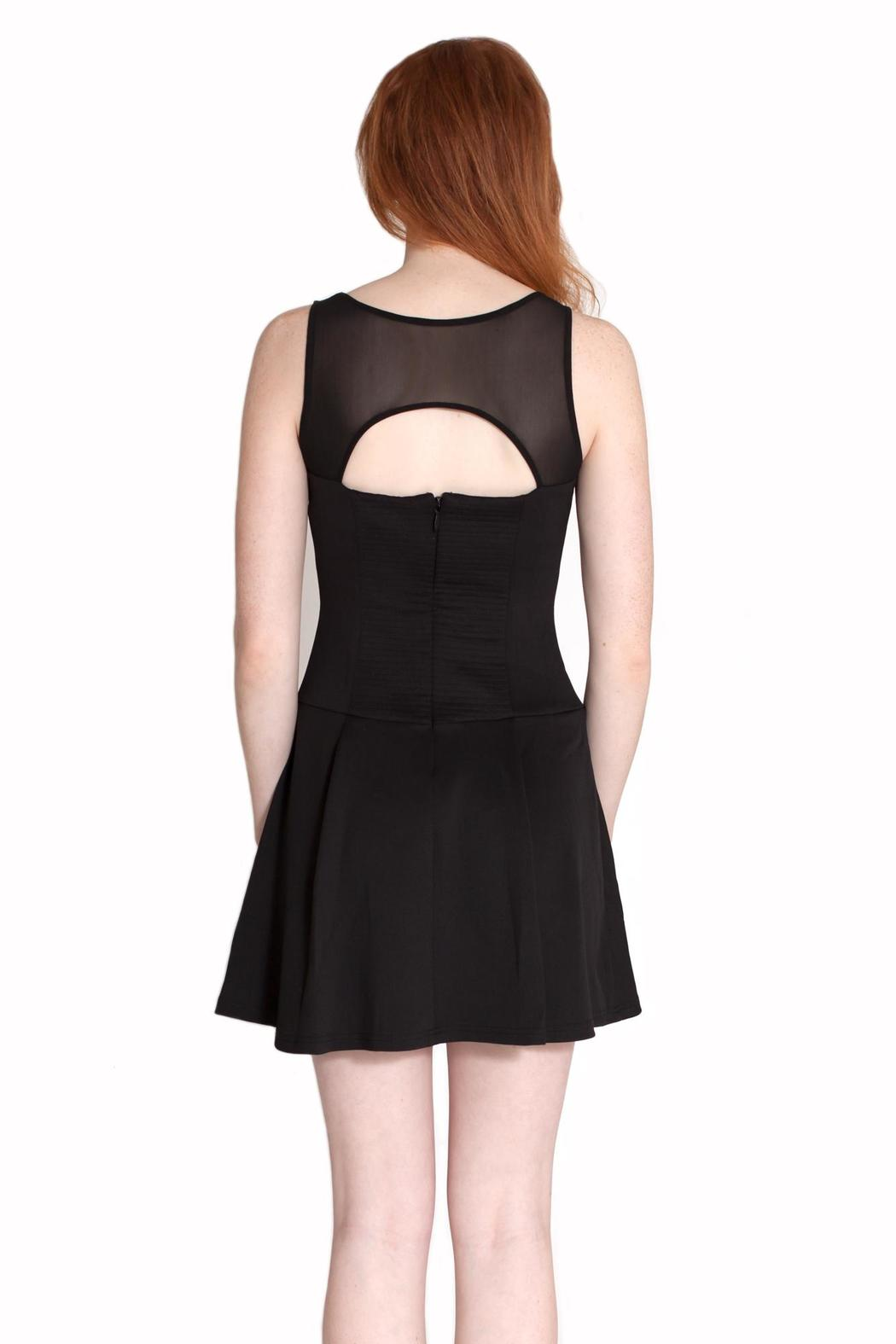 Wow Couture Mesh Cutout Dress - Back Cropped Image
