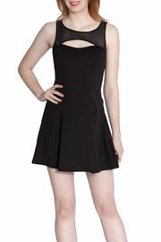 Wow Couture Mesh Cutout Dress - Front full body