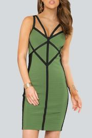 Wow Couture Olive Bandage Dress - Product Mini Image