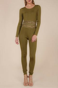 Wow Couture Olive Bandage Jumpsuit - Product List Image