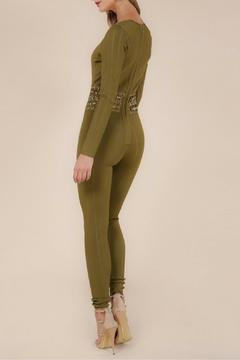 Wow Couture Olive Bandage Jumpsuit - Alternate List Image