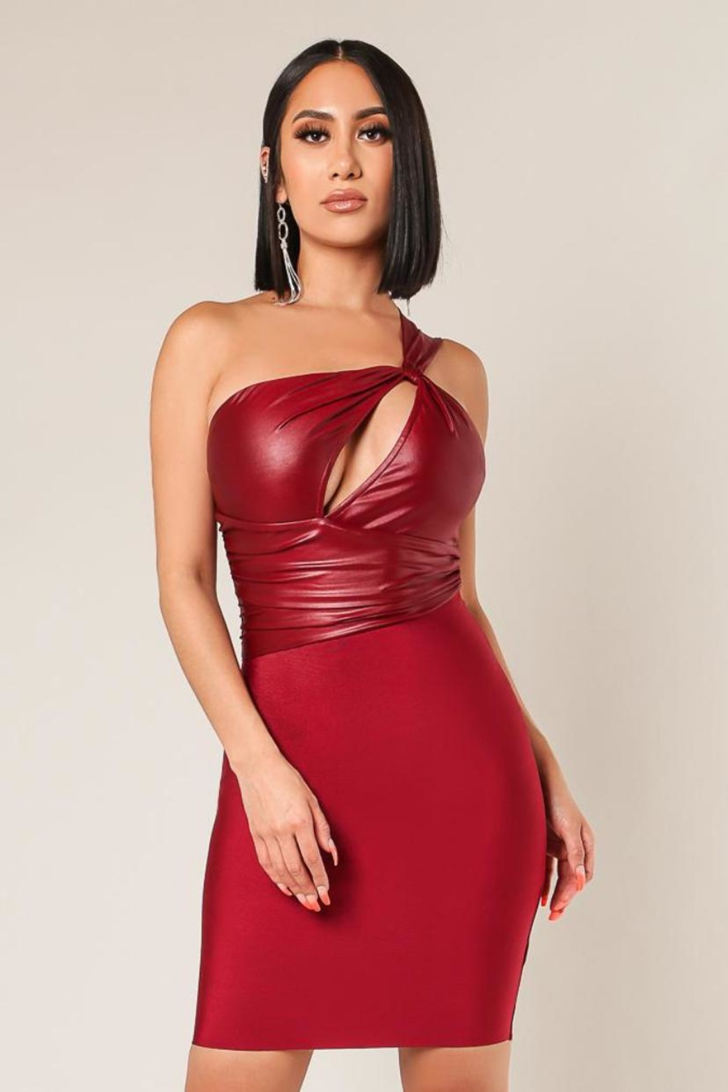 Wow Couture One-Shoulder Twofer Dress - Main Image