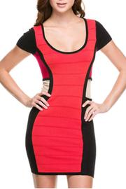 Wow Couture Rust Bandage Dress - Front cropped