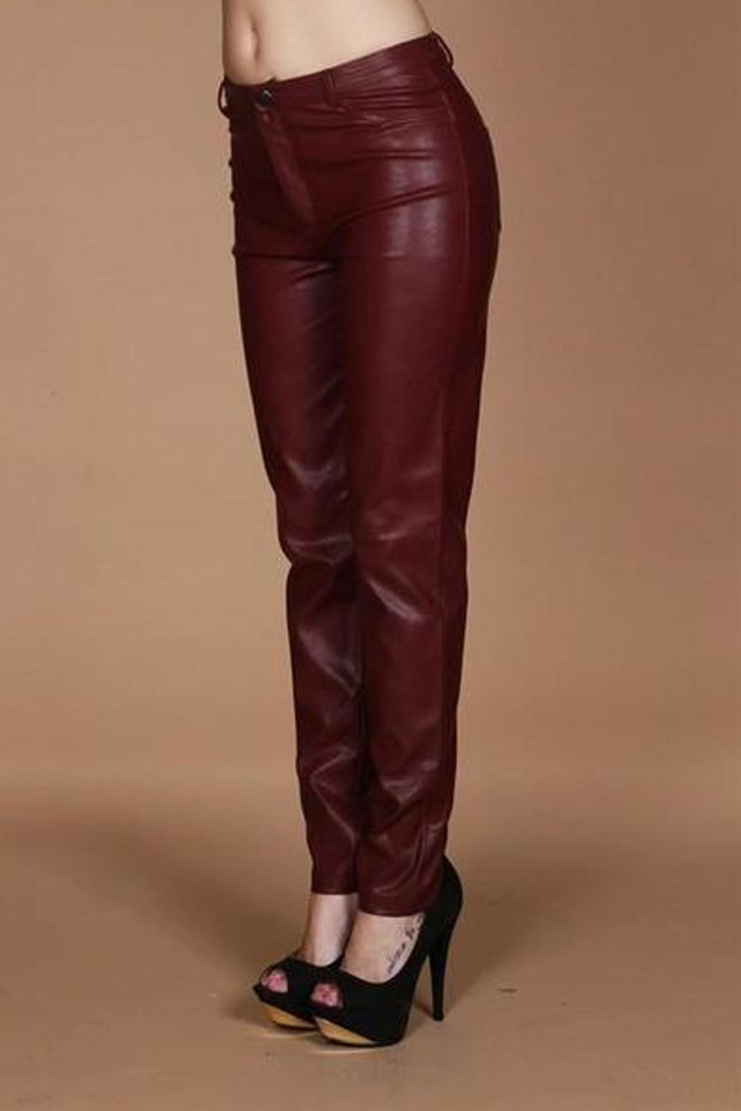Wow Couture Vegan Leather Pants - Main Image