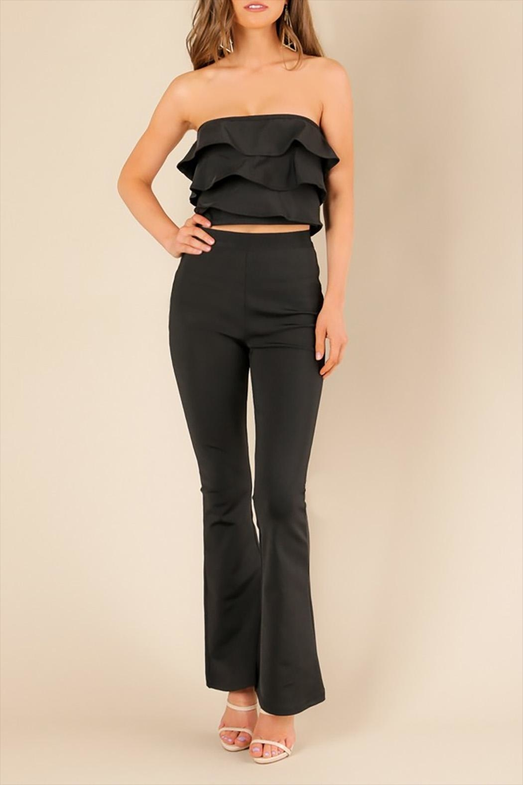 Wow Couture Black Adin Top - Main Image